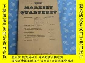 二手書博民逛書店THE罕見MARXIST QUARTERLY no.1 JANU
