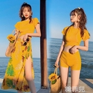 大尺碼泳衣 泳衣女遮肚顯瘦分體三件套新款性感保守韓國仙女范泡溫泉泳裝 韓菲兒
