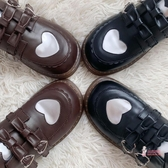娃娃鞋 秋冬新小皮鞋搭扣小皮鞋平底圓頭娃娃鞋 2色35-40
