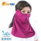 UV100 防曬 抗UV-加強護臉護頸口罩-附濾片