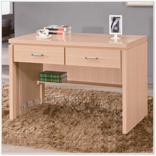 【水晶晶家具/傢俱首選】和楓白橡3.7呎雙抽書桌~~另有書櫃可搭配 ZX8633-2