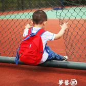 兒童書包  兒童全棉帆布雙肩背包防走失背包1-3-5歲拉繩幼兒園寶寶小書包男 夢藝家