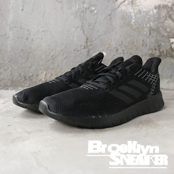 Adidas Asweerun 全黑 網布 線條 休閒鞋 男 (布魯克林) 2019/01月 F36333