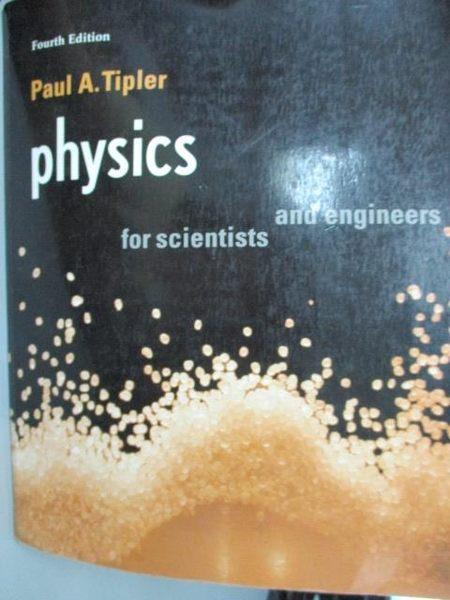 【書寶二手書T3/大學理工醫_XGN】Physics for scientists and engineers_Paul