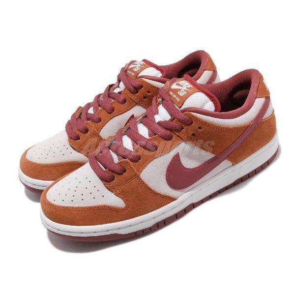 Nike 滑板鞋 Nike SB Dunk Low Pro 咖啡 紅 男鞋 麂皮 運動鞋 BQ6817-202
