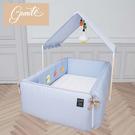 gunite 沙發嬰兒床全套組 安撫陪睡式0-6歲(丹麥藍)贈床邊遊戲吊飾玩具組[衛立兒生活館]