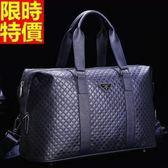 旅行袋-肩背奢華商務休閒風格精品菱格男手提包66b37【巴黎精品】