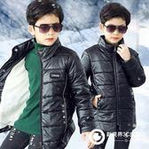 男童PU皮棉衣冬天皮襖加絨加厚外套兒童韓版中大童冬裝寶寶童裝潮