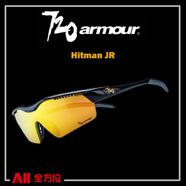 【720Armour】720 Hitman JR系列 運動太陽眼鏡  黑/金(B32514) 全方位跑步概念館