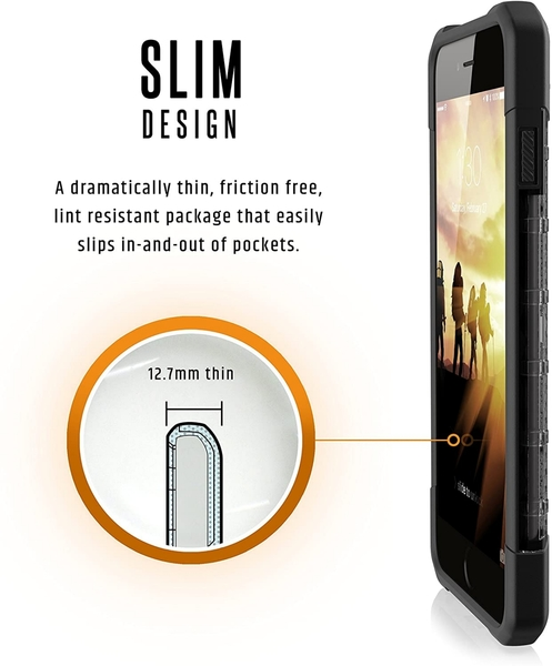 【美國代購】UAG iPhone 8 7 6s Plus 5.5寸 等離子輕薄堅固 軍事跌落測試機殼 灰黑