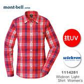【速捷戶外】日本 mont-bell 1114281 WICKRON 女長袖襯衫(櫻桃紅色),柔順,透氣,排汗, 抗UV,montbell