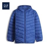 Gap男童保暖拉鏈絎縫連帽羽絨衣480041-純淨藍