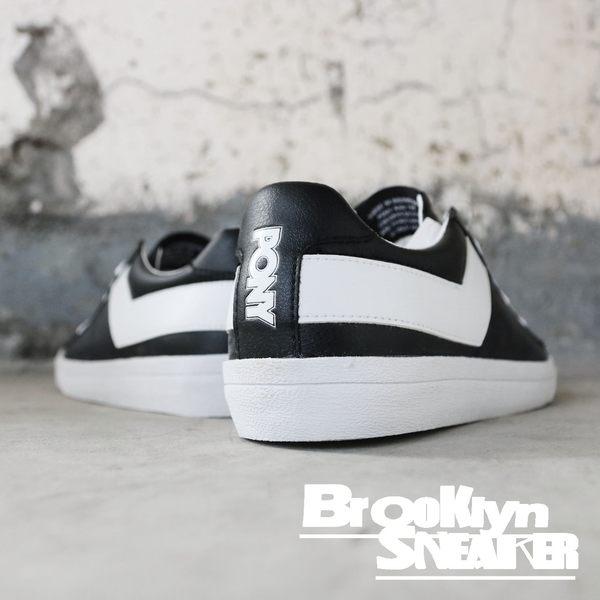 PONY 全黑 白勾  皮革 基本款 低筒 休閒鞋 男女款 (布魯克林) 63U1TS61BK