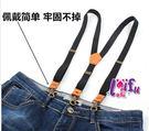 草魚妹-k1237吊帶三夾2cm真皮背帶勾扣吊帶褲帶夾正品,售價450元