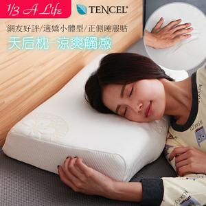 【1/3 A LIFE】恆溫抗菌-按摩側睡模塑枕(天后枕2入)贈送環保購物袋1入