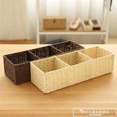 簡約分格桌面收納盒雜物收納盒壁櫥柜子電視柜茶幾收納筐置物盒igo『韓女王』