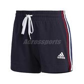 adidas 短褲 AM Shorts 藍 白 女款 基本款 運動休閒 【ACS】 GK3633