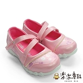 【樂樂童鞋】【台灣製現貨】MIT繞帶小花娃娃鞋-粉 C014-1 - 現貨 台灣製 女童鞋 大童鞋 休閒鞋
