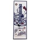 小禮堂 Hello Kitty x 故宮博物院 織帶掛繩透明證件套 證件掛套 票卡套 車票夾 (藍) 4713077-26623