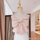 2021款甜美氣質性感蝴蝶結背心百搭小個子純色吊帶女外穿心機美背 蘿莉新品
