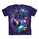 【摩達客】(預購)(4XL、5XL)美國進口The Mountain 宇宙之狼 純棉環保短袖T恤(10416045023a)