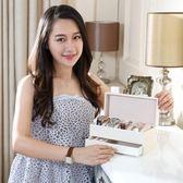 歐式碳纖皮革高檔手錶盒子 抽屜式佛珠手錬收納盒 手錶展示首飾盒  聖誕節快樂購