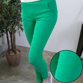 純色破損窄管九分褲   [藍 綠 粉 黑] 四色售