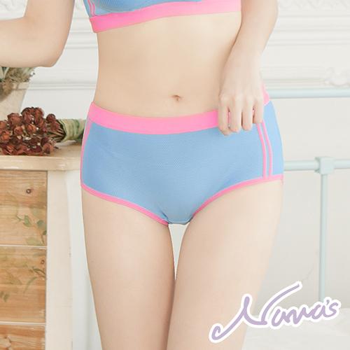 【露娜斯】鮮豔多彩。柔軟舒適透氣三角女褲【水藍/桃紅/黑/灰】P8908