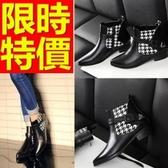 真皮短靴-獨特流行高雅低跟女靴子1色62d63【巴黎精品】