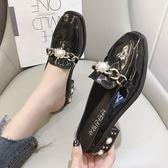 包頭拖鞋 包頭半拖鞋女式春季水鑽方頭懶人粗跟穆勒鞋外穿時尚百搭
