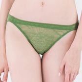 思薇爾-微戀花夏系列M-XL蕾絲低腰三角內褲(泥綠色)
