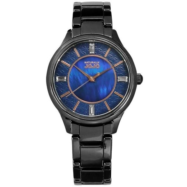 NATURALLY JOJO 陶瓷 優雅女錶 (JO96970-55F) 藍/36mm