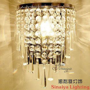 現代簡約創意水晶壁燈
