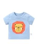 嬰兒短袖T恤衣服純棉女童男童夏裝童裝半袖上衣0歲1幼兒3寶寶女 伊衫風尚