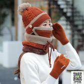 毛帽子 帽子女冬天加絨加厚騎車防風保暖護耳秋冬季百搭韓版潮針織毛線 宜品