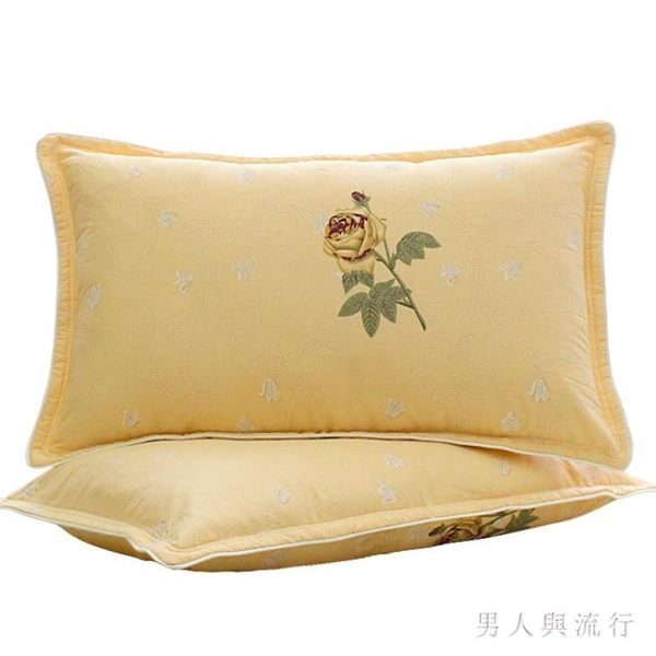全棉夾棉加厚枕套一對裝單人棉質48 74家用枕芯套 DR21651【男人與流行】