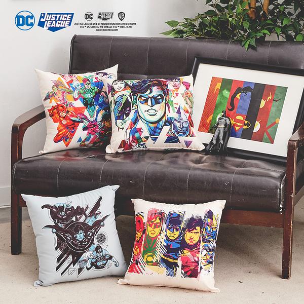 【DC正義聯盟小方枕四款可選】辦公室沙發靠墊擺飾 戀家小舖台灣製