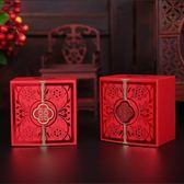 40個裝煙雨集紅色喜糖盒子結婚創意2018中式婚慶糖盒燙金婚禮結婚用品