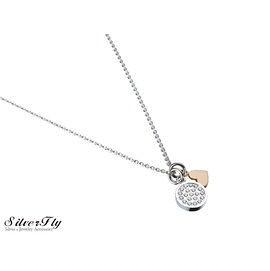 《 SilverFly銀火蟲銀飾 》【MiGO 2015 Stand by Me 】Peace白鋼女款項鍊 鑲嵌20顆鑽