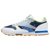 Reebok CL Leather ATI [DV5241] 男 休閒鞋 運動 慢跑 復古 反光 皮革 緩震 白 深藍