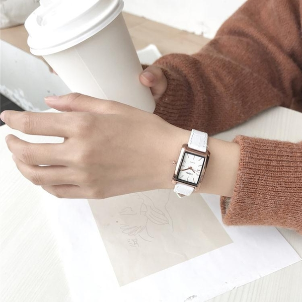 chic手錶女學生韓版簡約潮流ulzzang小錶盤方形款森女復古學院風 草莓妞妞