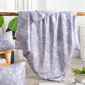 【Betrise葉錦-紫】頂級100%奧地利天絲鋪棉涼被5X6.5一入