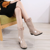 雨靴女成人韓國時尚可愛女式防滑雨鞋防水套鞋膠鞋中筒水鞋水靴夏