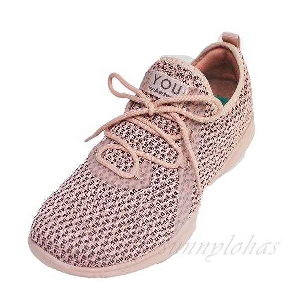 SKECHERS(女)健走鞋 YOU Serene 假綁帶 套入式 運動鞋-15840PNK 粉 [陽光樂活]
