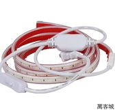 超亮led燈帶220v防水背膠可粘貼廚房鞋柜化妝鏡宿舍床頭燈長條 萬客城