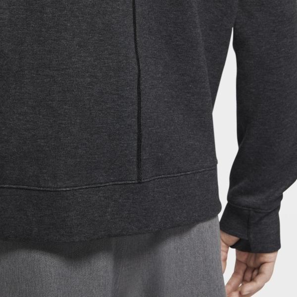 NIKE YOGA 男裝 外套 連帽 棉質 慢跑 訓練 休閒 導濕 速乾 口袋 黑【運動世界】CU6261-010