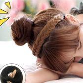 包包頭韓系真髮假髮包新娘盤髮器古裝髮飾韓系髮型女蓬鬆半丸子頭捲直髮圈