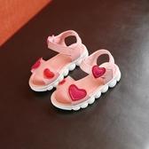 女童涼鞋兒童中大童鞋小女孩寶寶涼拖鞋潮