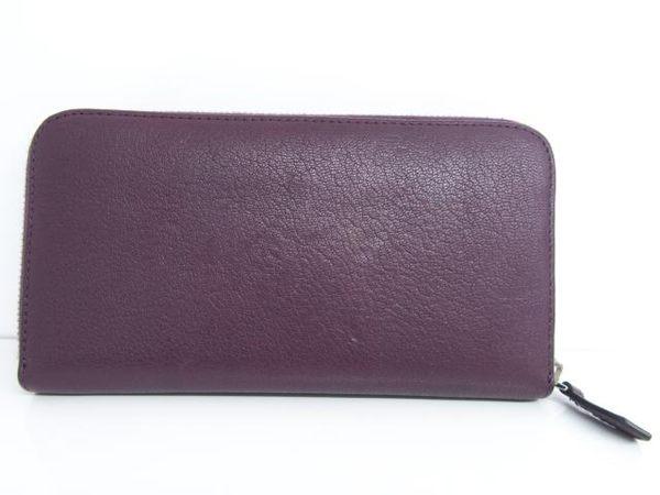 GIVENCHY 紫色皮革ㄇ字拉鍊長夾 【BRAND OFF】