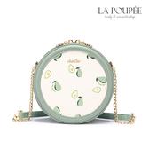 側背包 甜心酪梨印花小圓包 清新綠-La Poupee樂芙比質感包飾 (預購+好禮)